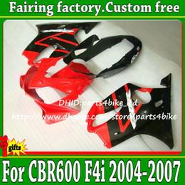 $enCountryForm.capitalKeyWord Canada - Free shipping red black Fairings kit for Honda 2004-2007 CBR600F4i custom motorcycle parts 04 05 06 07 CBR600 F4i with 7 gifts ag26