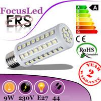 Wholesale Cheapest B22 Led - 2014 Cheapest High Power 9W E27 Led Bulb Corn Light 44 Leds 5050 SMD Warm Cool White Led Lamp 360 Beam Angle AC 110-240V