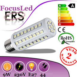 Wholesale E14 44 Led - 2014 Cheapest High Power 9W E27 Led Bulb Corn Light 44 Leds 5050 SMD Warm Cool White Led Lamp 360 Beam Angle AC 110-240V