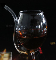 Wholesale Sweet Red Wine Wholesale - Free shipping-Hot selling 2pcs lot Small Creative Vampire Wine Glass Crystal Glass Sweet Red Wine Cup Glass 300ml