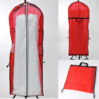Wholesale Cheap Dresses For Wedding Occasions - Portable Dress Storage Bag Free shipping Cheap for Wedding Dress Special Occasion Garment Storage Dust Coat