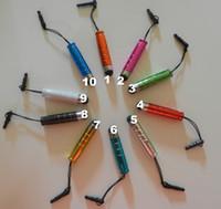 mini-handy-bildschirm großhandel-Neuer Mini-Staub-Stecker-Schreibkopf-Touch Screen Stift für Motorola Mobile Handy 200pc / lot