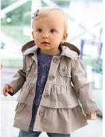 Wholesale Kids Western Coats - HOT new Best selling Arrival winter baby children kids jacket coat western style bistratal girl jacket children windbreak wind coat