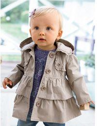 Wholesale Jackets Wind Kids - HOT new Best selling Arrival winter baby children kids jacket coat western style bistratal girl jacket children windbreak wind coat