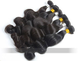 Wholesale 32inch Virgin Peruvian Hair - Trade 5A 100% UNPROCESSED Peruvian Virgin Hair Weave Body Wave Mix 12-32inch Remy Hairs Weft DHL free shipping