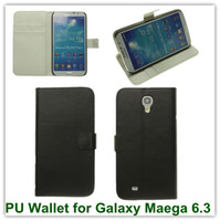 Wholesale Mega Covers - 10PCS Hot Mulit Stand PU Leather Credit Card Holder Back SKin Covers Case for Samsung Galaxy Mega 6.3 i9200 Free Shipping
