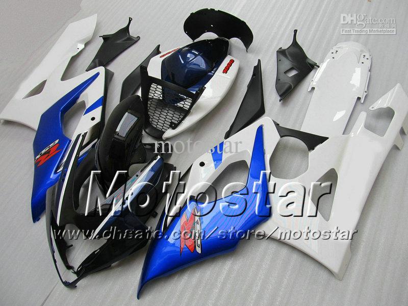 7 cadeaux de carénage Sert pour Suzuki GSXR1000 05 06 GSX-R1000 2005 GSXR 1000 2006 K5 Glossy Bleu Blanc Blanc Blanc Black Secréchage SD54