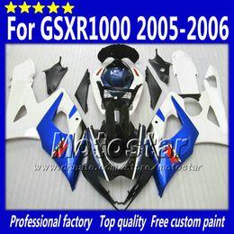 Aftermarket fairing gsxr online-7 Gifts fairings set for SUZUKI GSXR1000 05 06 GSX-R1000 2005 GSXR 1000 2006 K5 glossy blue white black aftermarket fairing Sd54