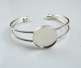 20mm beautiful bracelet setting, bracelet blanks, silver for choose