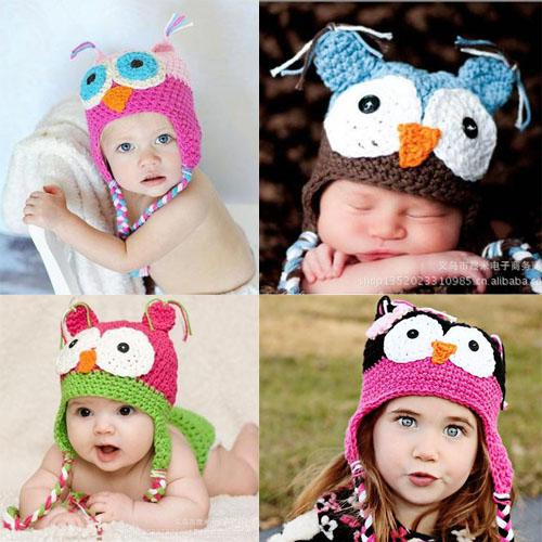 bb551ca4c70 2019 Fashion Cute Lovely Baby Boy Girl Toddler Child Owl Knit Crochet Hat  Beanie Cap Handmade From Wonderfultime