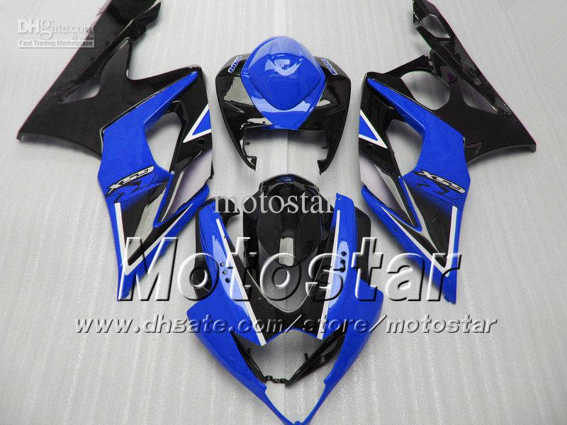 Kit de carénages pour SUZUKI GSX-R1000 05 06 GSXR 1000 K5 gsxr1000 gsx r1000 2005 2006 noir brillant avec carénage bleu foncé Sf6