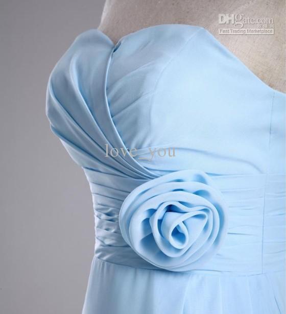 Op maat gemaakte handgemaakte bloem strapless ruche meisje bruidsmeisje jurk baljurk prom jurken bruidsmeisje jurk bruiloft jurken