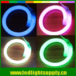 Wholesale Full Place - Free Shipping 25meter 5050 SMD tri-chip RGB led neon flex full color changing strip with Remote Controller for outdoor 220v 230V 110v