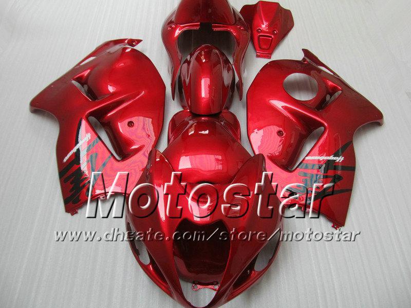 7 подарков обтекатели комплект для SUZUKI GSX1300R hayabusa 1996 - 2007 GSX 1300R 96-07 GSX-1300R все глянцевый красный обтекатель bdoy набор Sf76