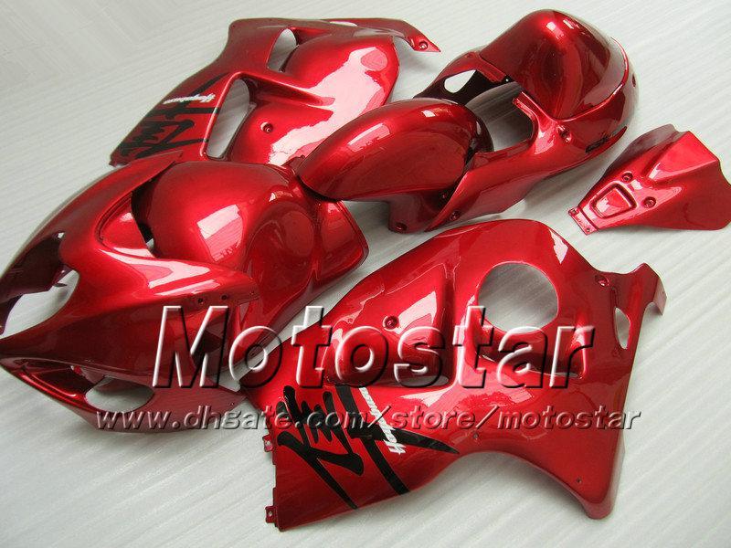 7 Gifts fairings kit for SUZUKI GSX1300R hayabusa 1996 - 2007 GSX 1300R 96-07 GSX-1300R all glossy red fairing bdoy set Sf76