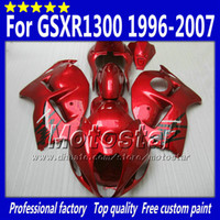 Wholesale 1996 Hayabusa - 7 Gifts fairings kit for SUZUKI GSX1300R hayabusa 1996 - 2007 GSX 1300R 96-07 GSX-1300R all glossy red fairing bdoy set Sf76