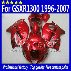 7 Gifts fairings kit for SUZUKI GSX1300R hayabusa 1996 - 2007 GSX 1300R 96-07 GSX-1300R all glossy red fairing bdoy set Sf76
