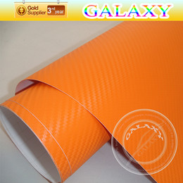 shipping film for cars UK - 1.52*30m 3D Orange carbon fiber vinyl sheet film  vinyl sticker for car body decoration with air drains free shipping by Fedex