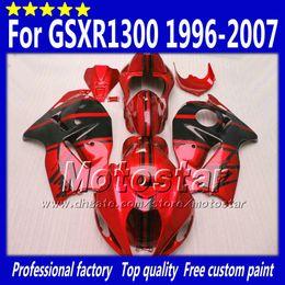 96 schwarze verkleidung online-7 Geschenke abs Verkleidungen für SUZUKI GSX1300R hayabusa 1996 - 2007 GSX 1300R 96-07 GSX-1300R schwarz in glänzend rot Verkleidung bdoy Set Sf27
