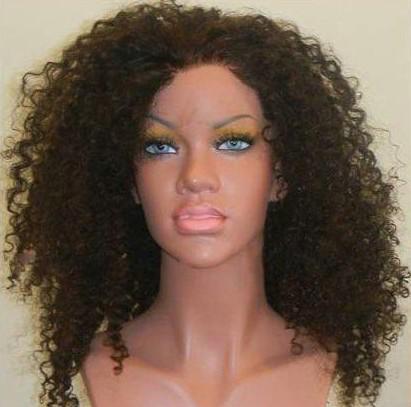 Sexy 100% Europeu Remy cabelo Humano 8-22 polegada preto kinky onda do cabelo humano peruca dianteira do laço, perucas de cabelo navio livre