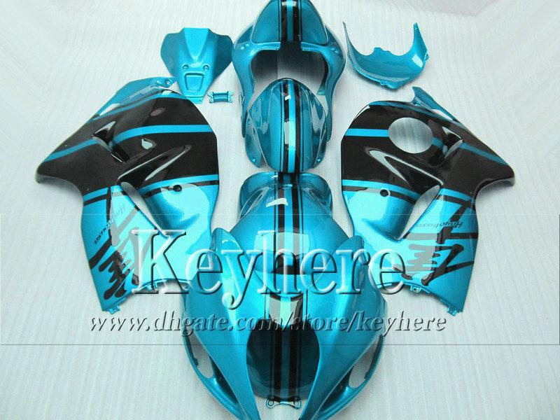 Hot Sale Black Water Blue Fairing Kit voor Suzuki Hayabusa GSX-1300R 96 -06 07 GSX1300R Race Motorcycle Backings 1996-2007 met 7 geschenken JK22