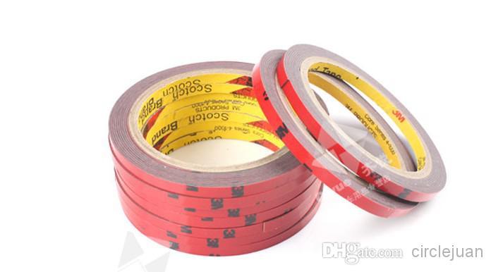 30cs /ロット3m * 1cmオートフォーム両面テープ自動車用アタッチメントテープ
