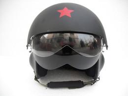 Wholesale Motorcycle Vespa - Motorcycle Helmet Vespa TK Style Racing Jet Pilot Open Face Cycling OFF Road Matt Black Casco Adult & 2 Visor - Free Shipping