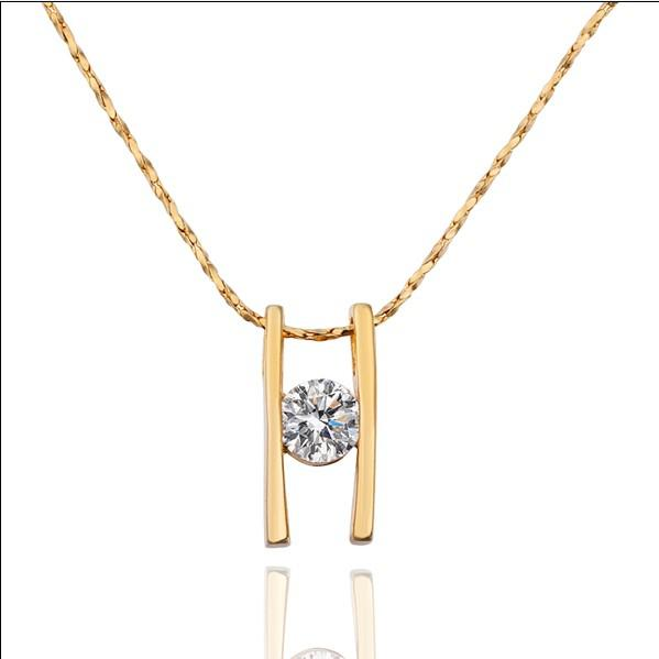 I monili nuziali placcati oro 18K di modo hanno intarsiato il trasporto libero 10pcs / lot del regalo di cerimonia nuziale della collana del pendente di zircon