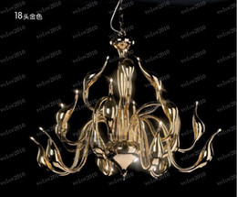 Wholesale Black Swan Free - LLFA1372 Free shipping 18 chandelier lamp, chandelier lighting, swan light