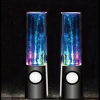 Wholesale Bookshelf Lamp - Hot Selling Water Music Speaker 2 in1 USB Mini Water Speaker Colorful Water-drop Show Sensor with LED Lamp Light Dancing Speaker