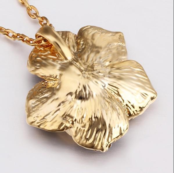 Mode 18K Vergulde Sieraden Rose Crystal Ketting Hanger Valentine Cadeau voor Vrouwen Gratis verzending /