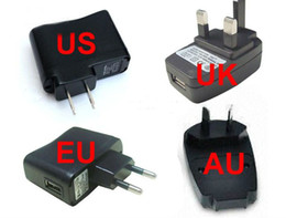 Wholesale Usb Cigarette Adaptor - 2014 New Coming USB AC Power Supply Wall Adapter Adaptor MP3 Charger EU Plug MP3 MP4 E-cigarette EGO-T EGO US EU USB Charger