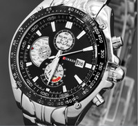 Fashion sports celebrities - Luxury Curren Celebrity White Master Date Calendar Water Resist Sports Men Watch