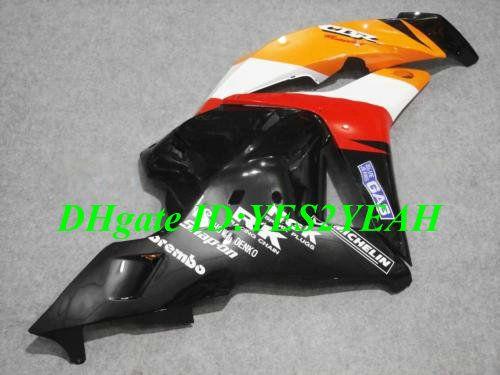 Rood Orange Injectie Mold voor Honda CBR600RR 09 10 Fairing Kit CBR 600RR CBR 600 RR CBR600 F5 2009 2010 Verklei Set + Gifts HX47