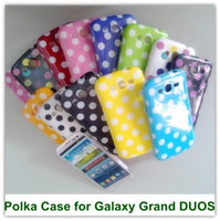 Wholesale Galaxy Grand Cute Cases - 2PCS Cute Polka Dot Soft TPU Back SKin Covers Case for Samsung Galaxy Grand i9080 i9082 Free Shipping