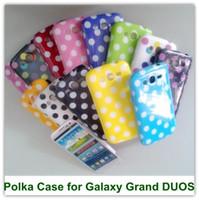ingrosso copertine posteriori per la grand galassia di samsung-2PCS Cute Polka Dot TPU Posteriore Custodia Cover per Samsung Galaxy Grand i9080 i9082 spedizione gratuita