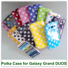 Wholesale Galaxy Grand Back Cases - 2PCS Cute Polka Dot Soft TPU Back SKin Covers Case for Samsung Galaxy Grand i9080 i9082 Free Shipping