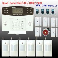 sms seguridad para el hogar al por mayor-GSM SMS Home Antirrobo Sistema de alarma de seguridad Detector Sensor Kit Control remoto