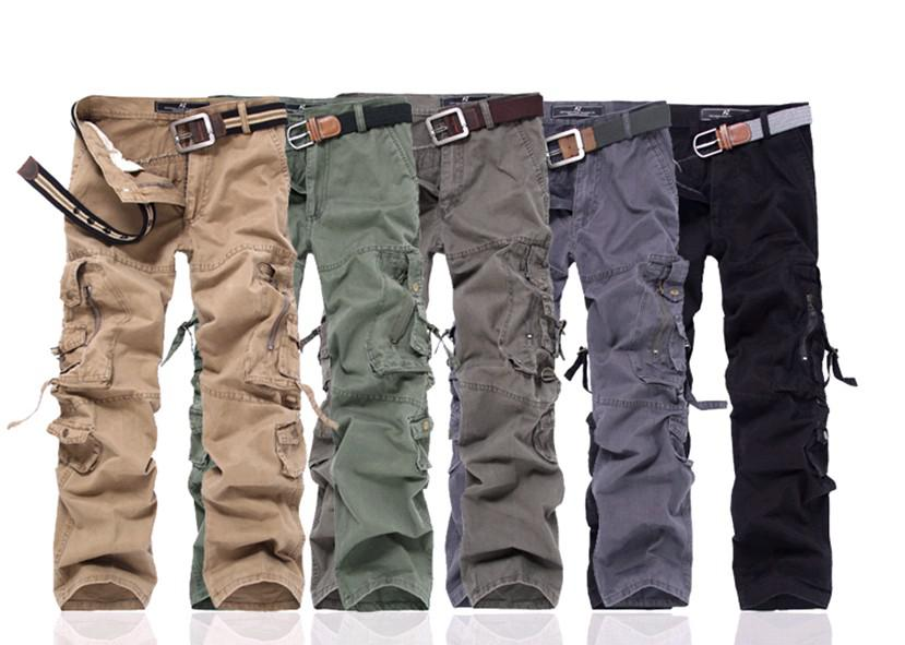 2017 New Men'S Cargo Pants, Leisure Trousers Loose Cargo Pants For ...