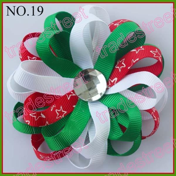 fashion Flower loopy hair bows girls baby hair bow