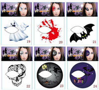 Wholesale Eye Rock Tattoo Sticker - New Arrival 50 pcs lot Fashion Rocking Face & Body Tattoo Sticker Temporary Tattoos , Eye Shadow Stickers ,24 Styles, Can Mix Order
