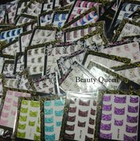 diseños de moda del arte del clavo al por mayor-121 Estilo Sparkle French Nail Decal Moda Corea Diseño 3D Nail Art Glitter Sticker Tips UV Acrylic Decoration NUEVO * VENTA CALIENTE