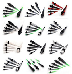 Wholesale Ear Gauges Tapers - 30% Off~! 120pcs Fashion Acrylic Ear Plug Expander Kit Taper Tunnel Stretcher piercing 2-8mm Gauge Body Jewelry [BC63*120]