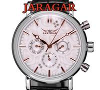 Wholesale Jaragar Luxury Swiss Automatic - Swiss Automatic Mechanical 6 Hands Mens Watch Wrist watch jaragar brand 6 Hands All of the series 30pcs lot DHL free shipping