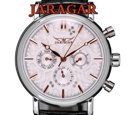 Wholesale Wholesale Mechanical Watches Swiss - Swiss Automatic Mechanical 6 Hands Mens Watch Wrist watch jaragar brand 6 Hands All of the series 30pcs lot DHL free shipping