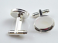high quality sterling silver cufflink base, cufflink blank, ...