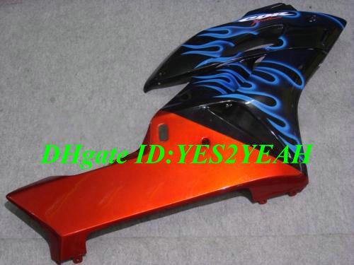 Injectie Carrosserie voor HONDA CBR1000RR 04 05 FUNLING PARTS CBR 1000RR CBR 1000 RR CBR1000 2004 2005 BLUE VLAMES FUNLINGS KIT + 7 GENAFFEN HM42