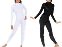 Wholesale Ethnic Costumes - Lycra Spandex Adult Unitard Catsuit Bodysuit Back YKK Zip 5 Sizes Black & White