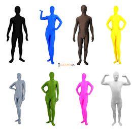 $enCountryForm.capitalKeyWord Canada - wholesale Solid Color Lycra Spandex Zentai Suits: Black, White, Red, Blue, Green, etc.