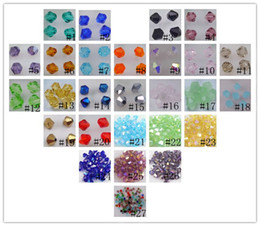 Wholesale Swarovski Green Bead - Wholesale!Free Shipping! New Fashion beautiful 1000pcs 4 mm swarovski crystal 5301 Bicone Beads, U Pick color